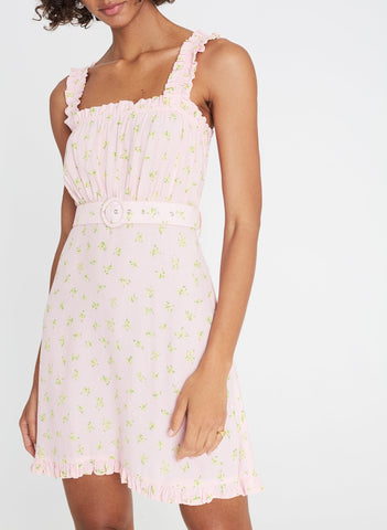 Mid Summer Mini Dress Luda Floral Pink