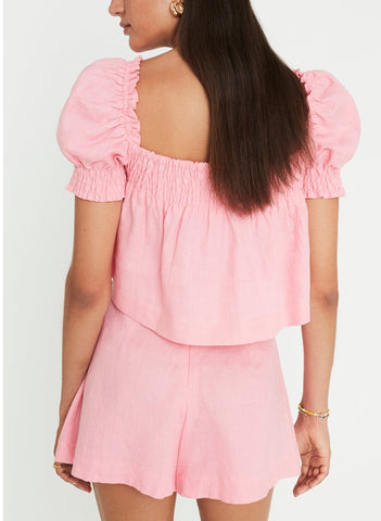 Lilla Top Plain Rose