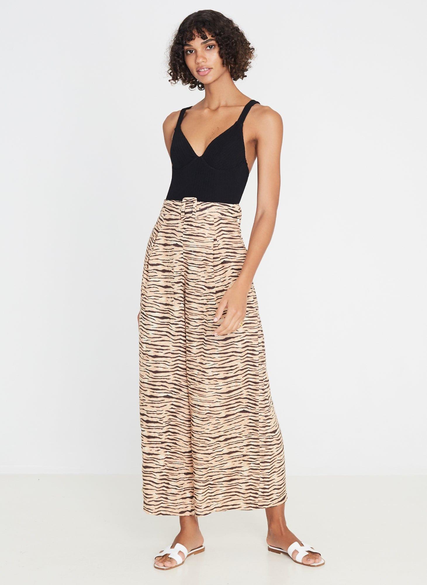 Lena Wide Leg Pants Wyldie Animal