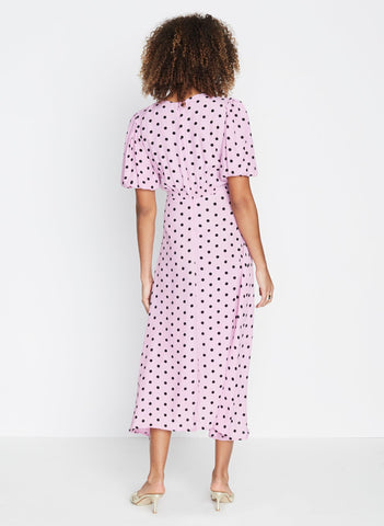 Vittoria Midi Dress Sylve Dot Lilac