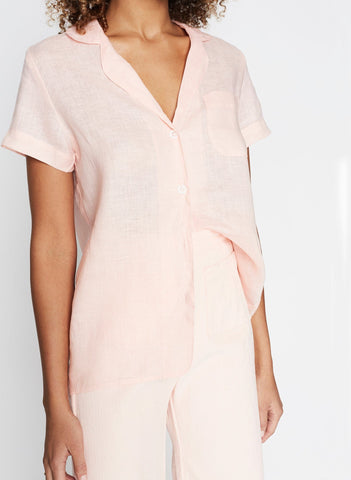 Maisy Shirt Plain Pale Pink -Final Sale