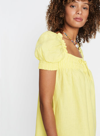 Plain Lemon - Cherie Mini Dress