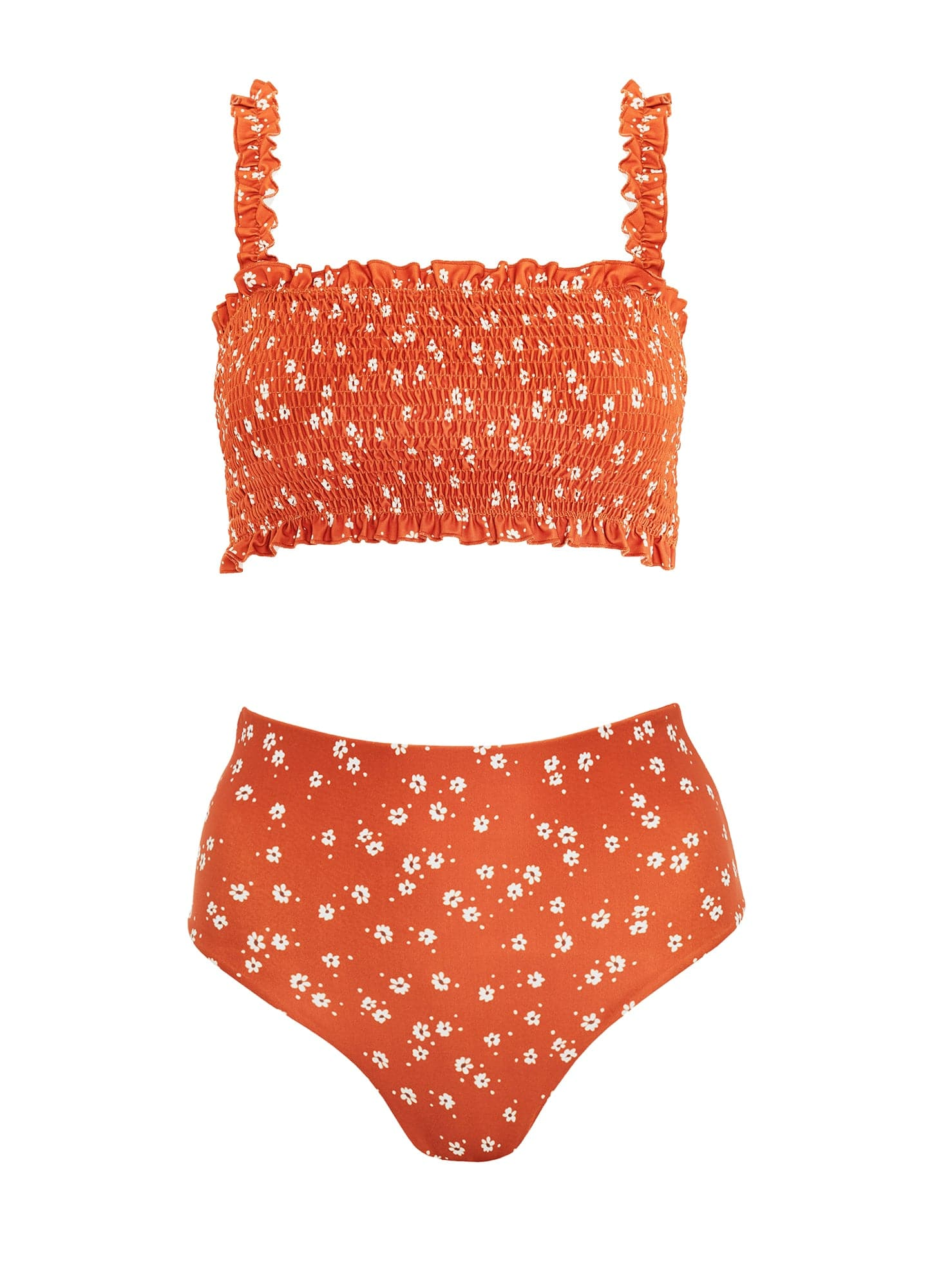 BETINA FLORAL PRINT - ORANGE - BETTINE BIKINI