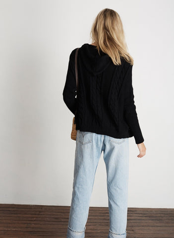 ATHENS KNIT SWEATER - BLACK - FINAL SALE