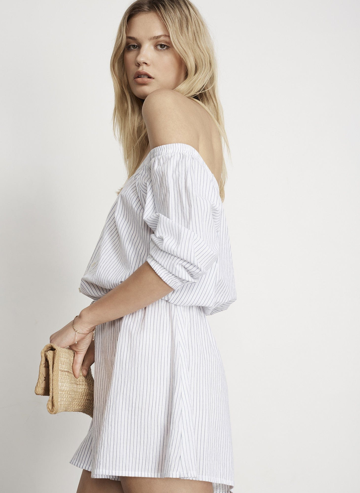 LEE STRIPE - SANDY PLAYSUIT - FINAL SALE