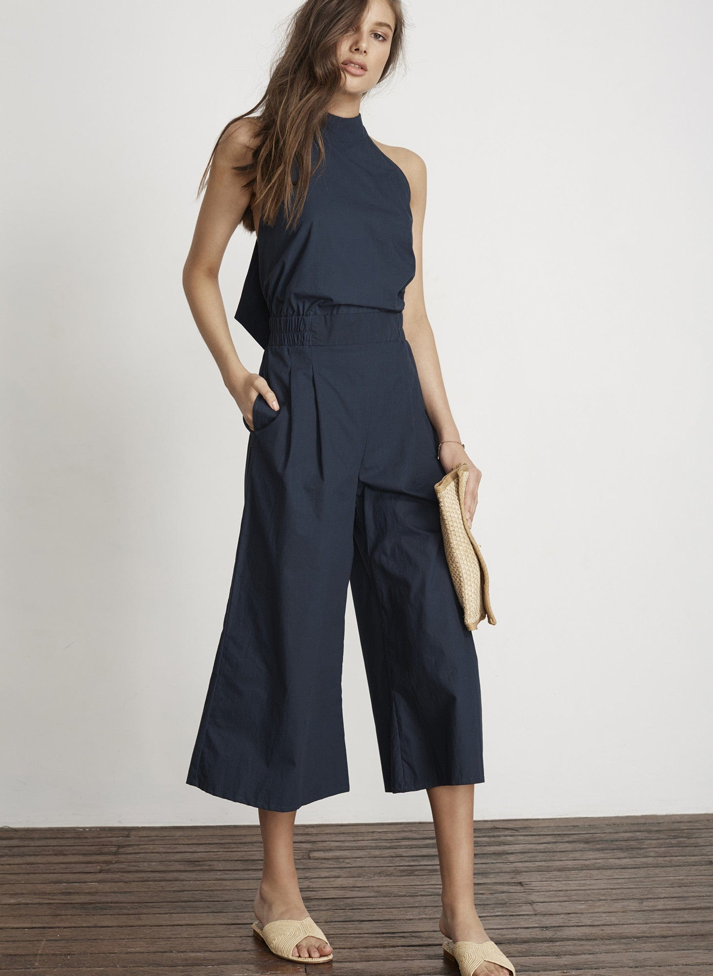 PLAIN DENIM NAVY - SHORE JUMPSUIT - FINAL SALE