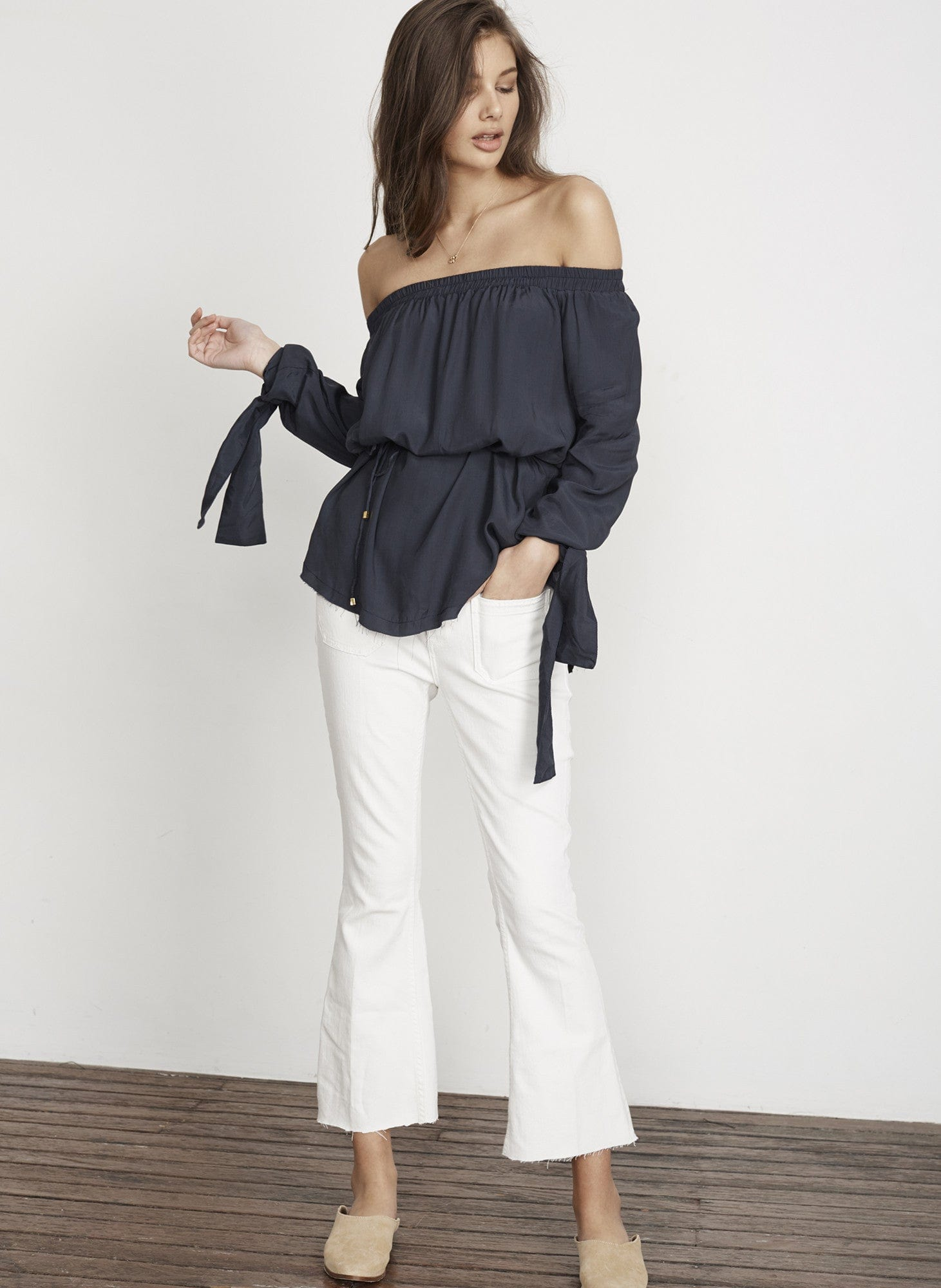 PLAIN DUSK NAVY - POLONIA TOP - FINAL SALE