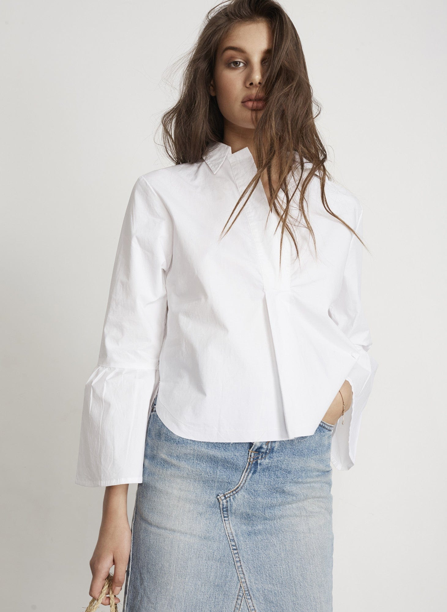 PLAIN WHITE - BISOUS SHIRT - FINAL SALE