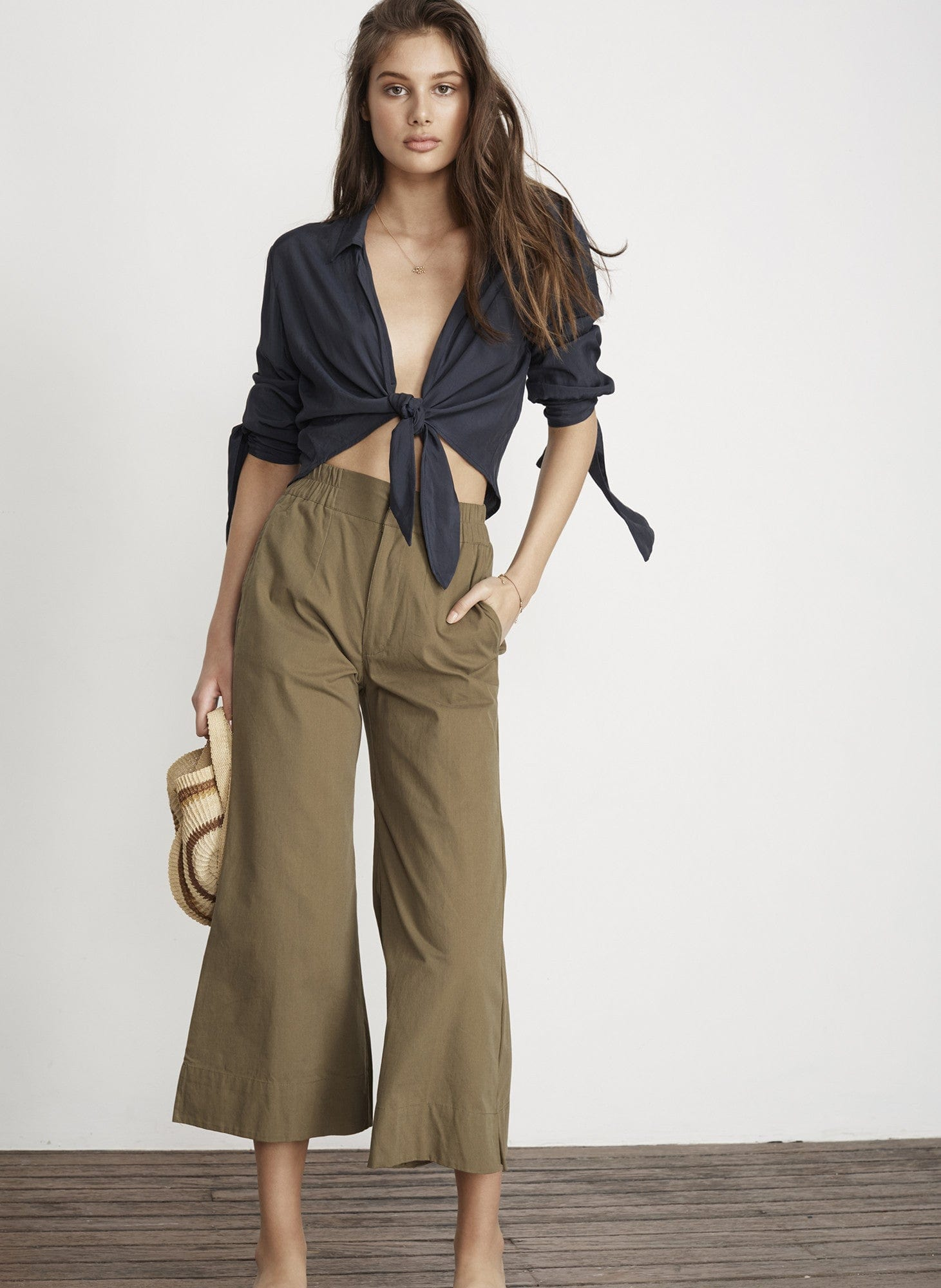 PLAIN KHAKI CANVAS - EDIE PANTS - FINAL SALE
