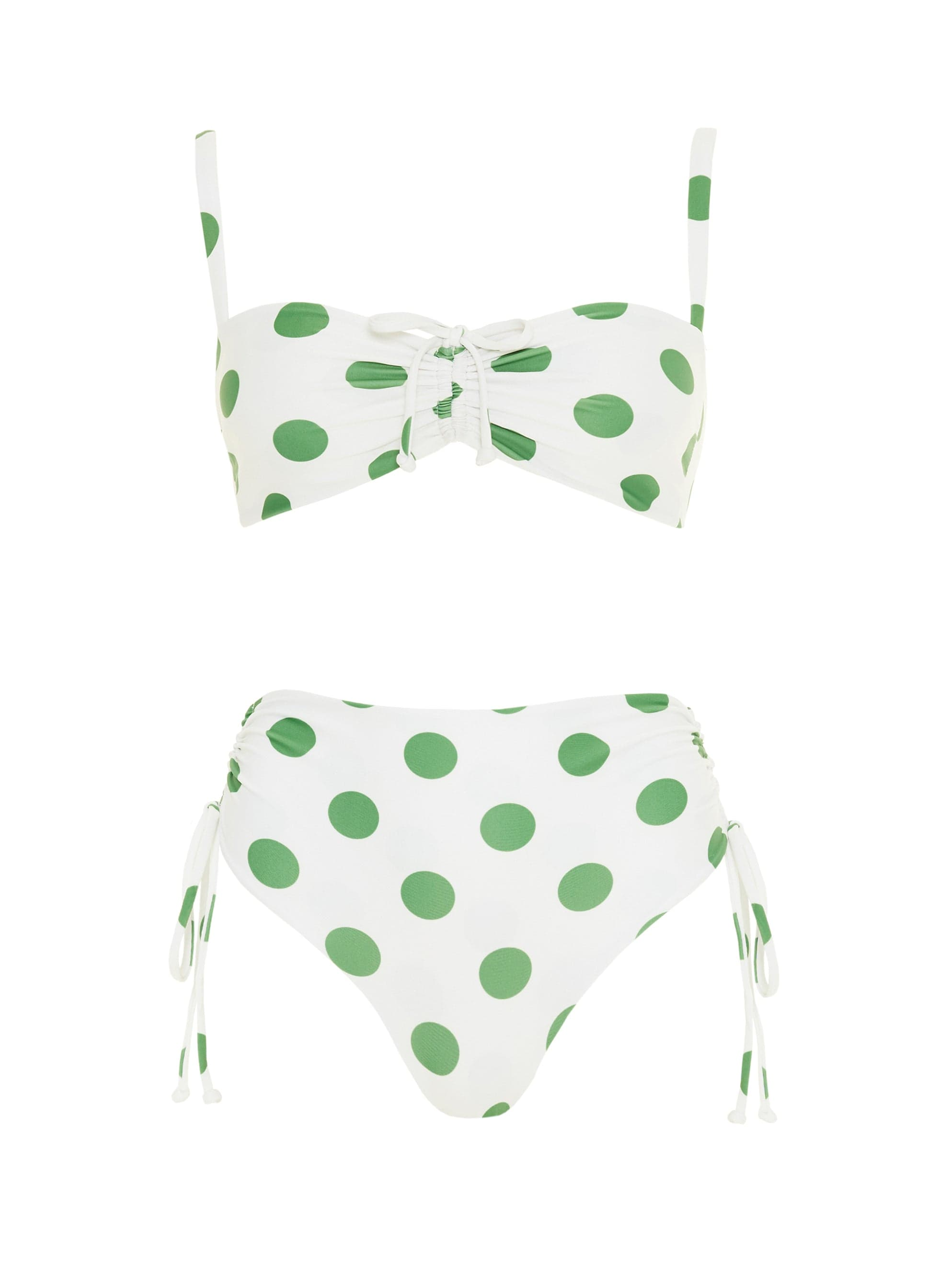 LULA DOT PRINT - GREEN - MARAIS BIKINI - FINAL SALE