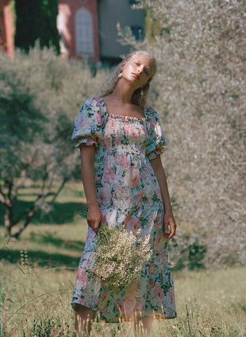 De Christin Midi Dress Venissa Floral