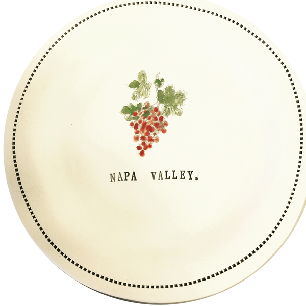 "CUSTOM - Napa Valley  - 6"" porcelain round"