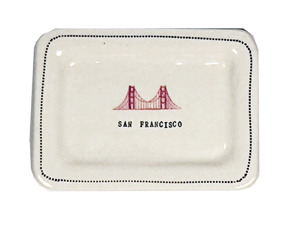 CUSTOM - San Francisco  - 4x6 Porcelain Dish