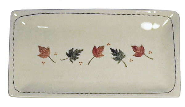 "Fall Leaves -  Porcelain Platter  11.5"" x 5.5"""