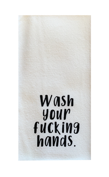 Wash Your Fucking Hands. - Disposable Guest Towels