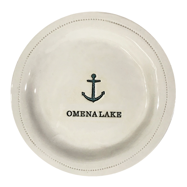 CUSTOM - Omena Lake-Porcelain Round
