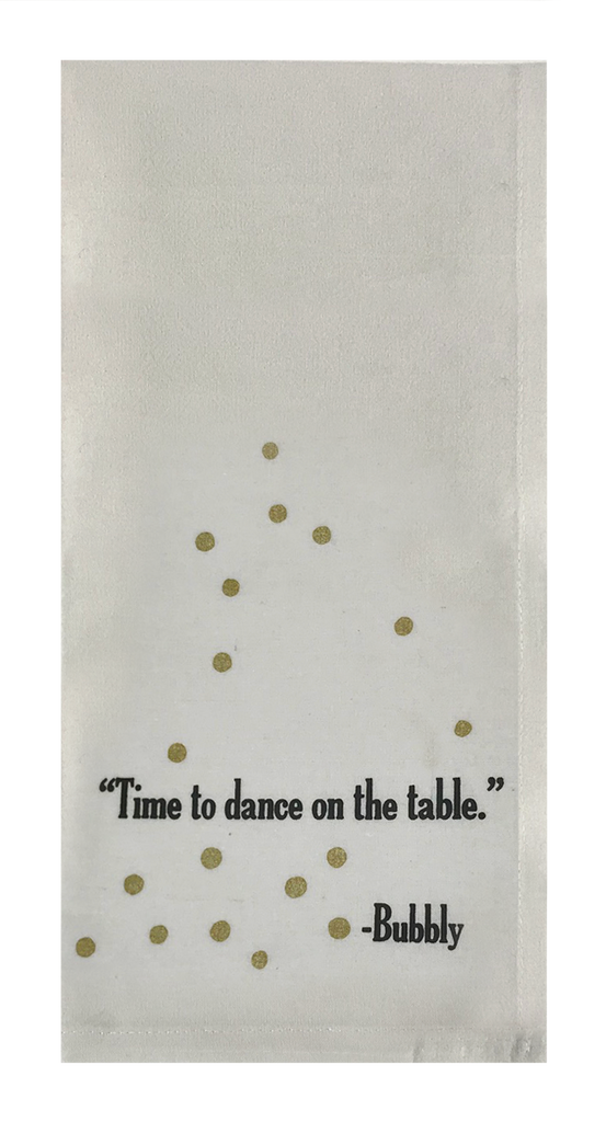 Time To Dance On The Table.