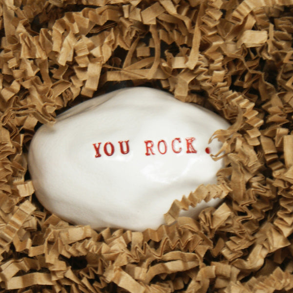 You Rock. - Porcelain Sculpture