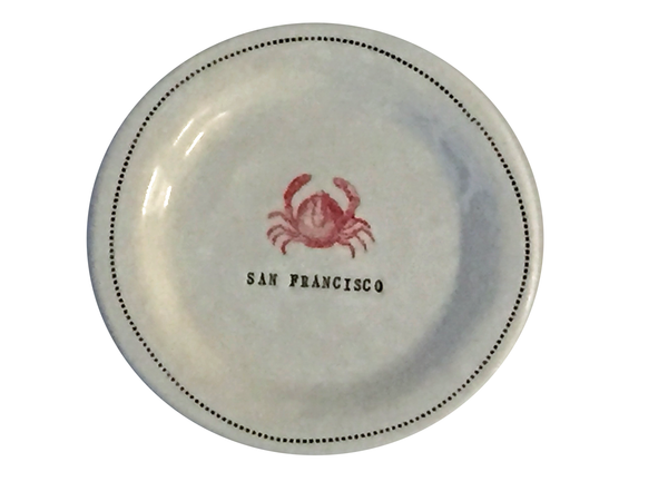 "CUSTOM - San Francisco  - 6"" porcelain round"