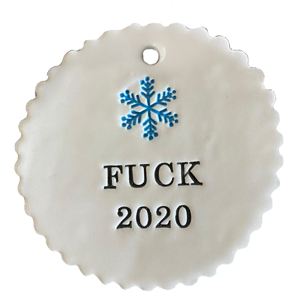 "FUCK 2020 -3"" Porcelain Tag 6 pcs"
