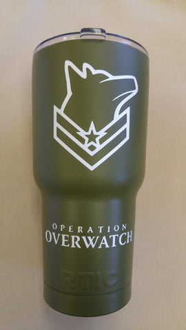 Operation Overwatch drink wear RTIC tumbler