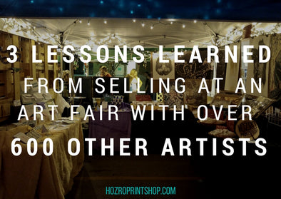 3 lessons learned from selling at an art fair with over 600 other artists title image