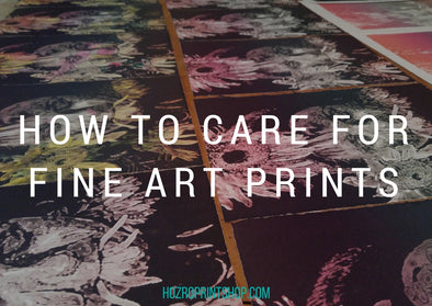 how to care for fine art prints blog title image