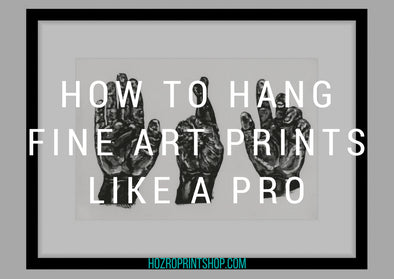 How to Hang Framed Fine Art Prints Like a Pro