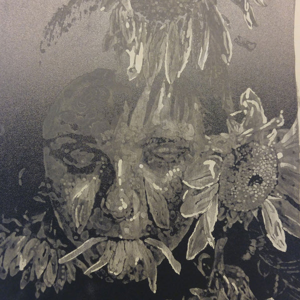 lithography portrait on stone