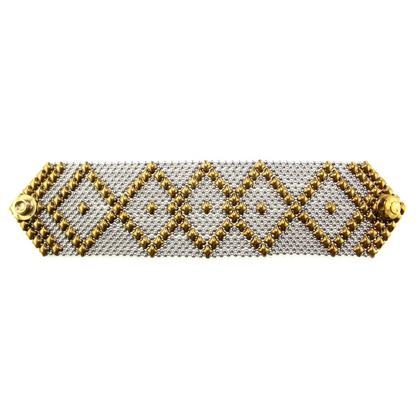 B10-SS-AG (Antique Gold and Stainless Steel) Bracelet