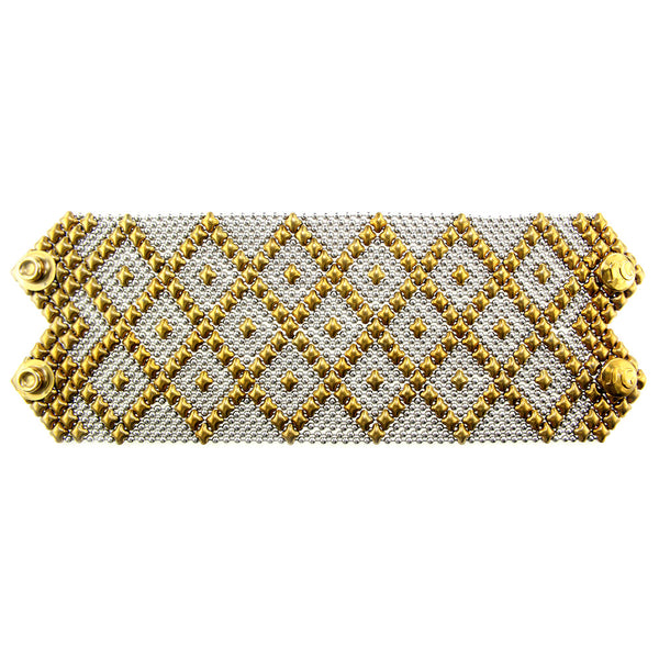 B26-SS-AG (Antique Gold and Stainless Steel) Bracelet