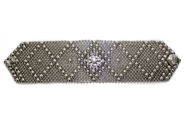 RSB10 – N Bracelet with Swarovsky Crystals (chrome finish)