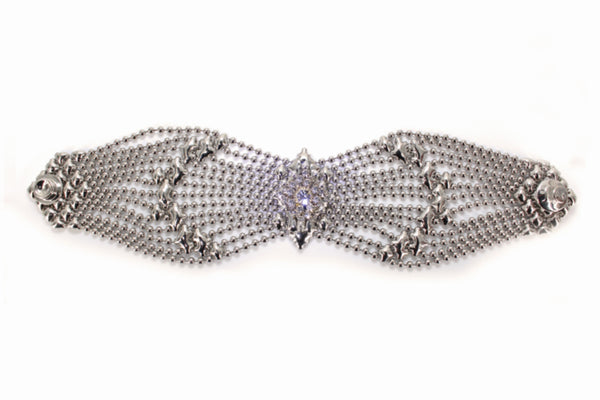 RSB77 – N Bracelet with Swarovsky Crystals (chrome finish)