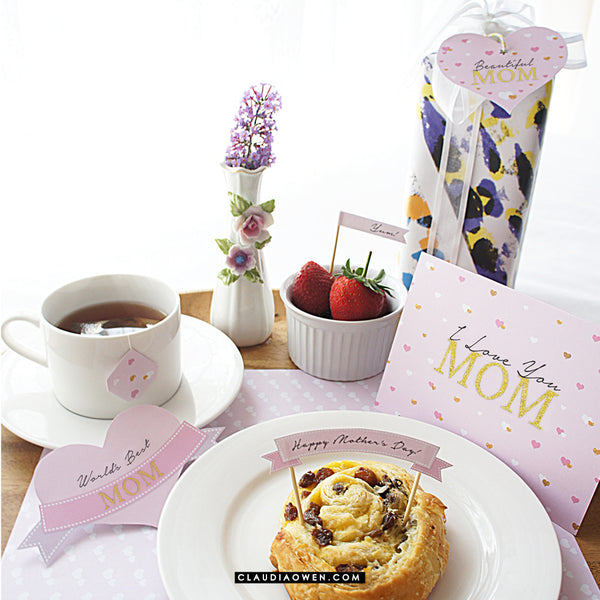 Mother's Day Breakfast In Bed Printable DIY - Mom