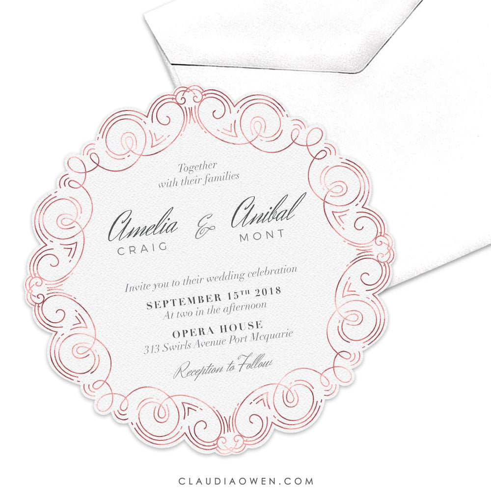 Wedding Invitation / Rehearsal Dinner / Adult Party Invitation / Birthday Party / Formal Dinner Invitation / Engagement Party