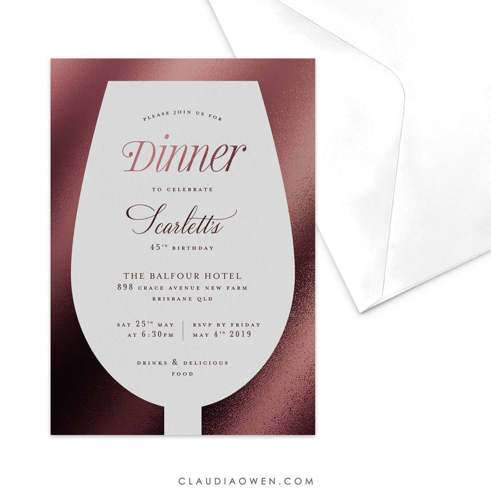 Wine birthday Dinner Party Invitation, Wine Tasting Winery Tour, Wine and Dine Red Wine Lovers, Wine Bachelorette Wine Bridal Shower