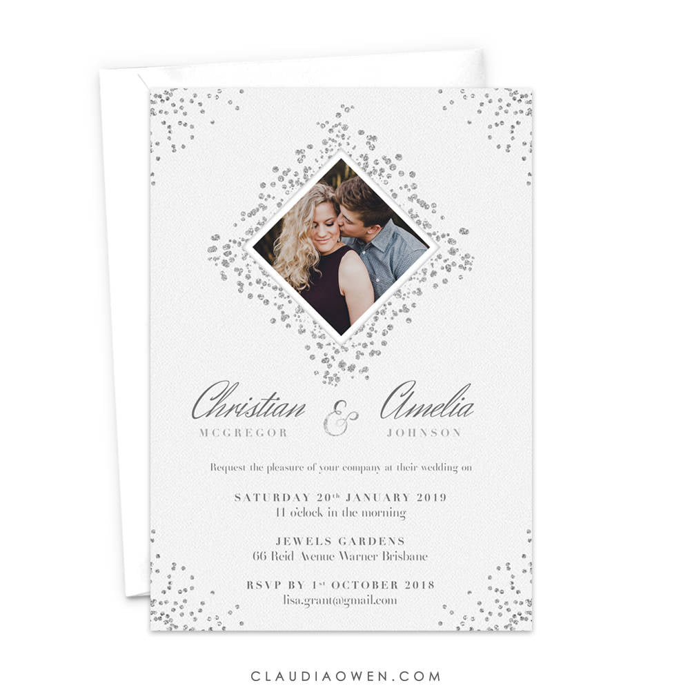 Wedding Photo Invitation, Elopement Announcement Card, We Eloped, Engagement Party Invitation, Rehearsal Dinner Invite, Photo Card