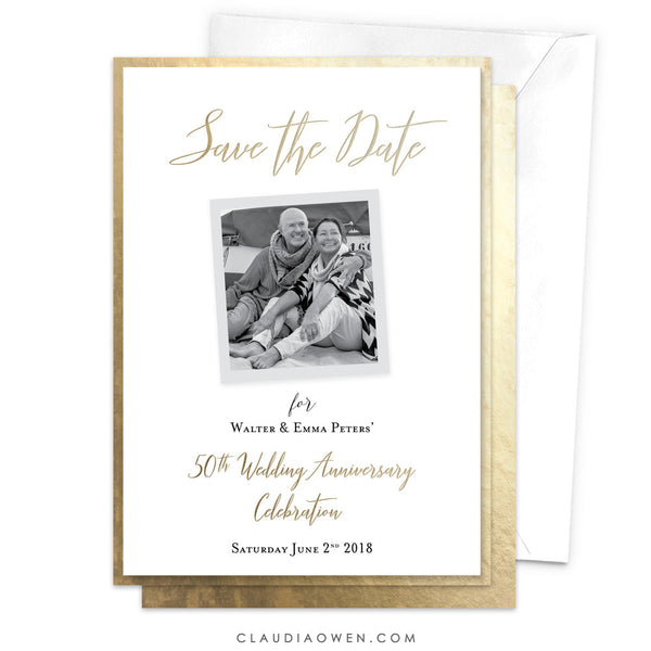 Wedding Anniversary Save the Date, 50th Wedding Anniversary Golden Wedding Anniversary Picture Frames Photo Frame 50th Anniversary