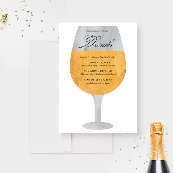 Wine Birthday Party Invitation Edit Yourself Template, Wine Bachelorette Digital Download Wine Tasting Winery Printable Invite