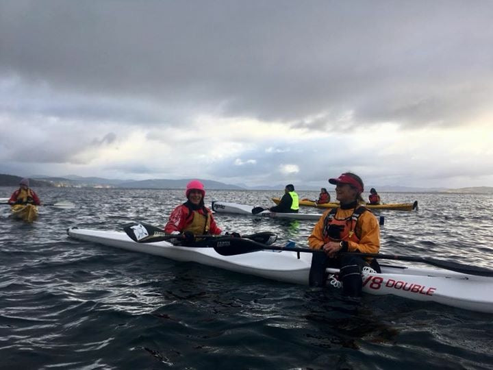 Epic V8 Double surfski kayak Next Level Kayaking Tasmania coaching