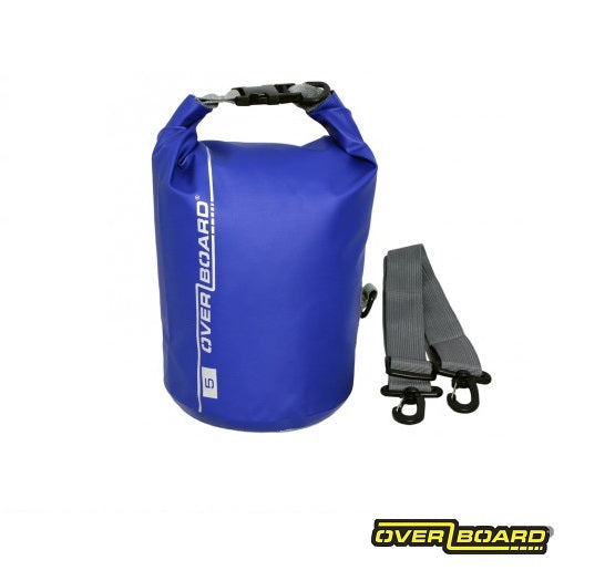 Overboard Waterproof Dry Tube Bag 5L Blue Next Level Kayaking Shop Paddling Hobart Australia Tasmania Coaching