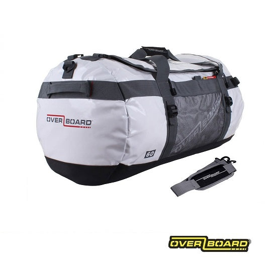 Overboard Weatherproof Duffel Bag 60L White Next Level Kayaking Shop Hobart Australia Tasmania Coaching