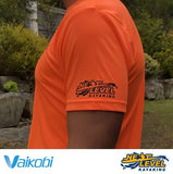 Vaikobi V OCEAN S/S UV PERFORMANCE TOP Fluro Orange Next Level Kayaking Tasmania Australia Paddling Hobart Coaching