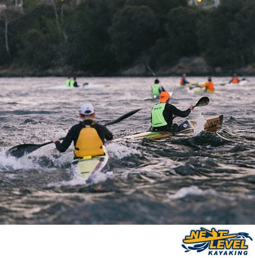 Next Level Kayaking's Moving Targets Plus Paddle Group Training Hobart Tasmania