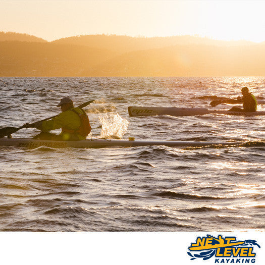 Next Level Kayaking open water skills lesson Tasmania
