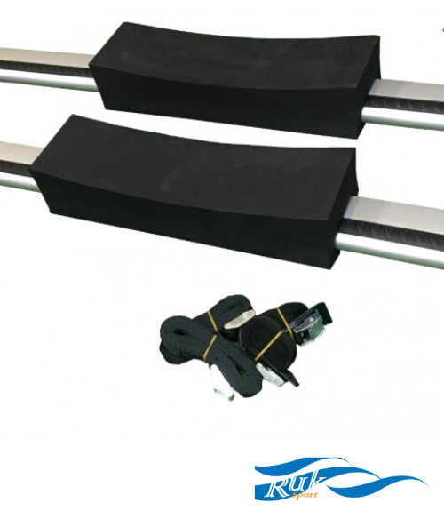 Ruk Foam Roof Rack Cradles w/ Straps - Next Level Kayaking - Hobart Tasmania Paddling Coaching
