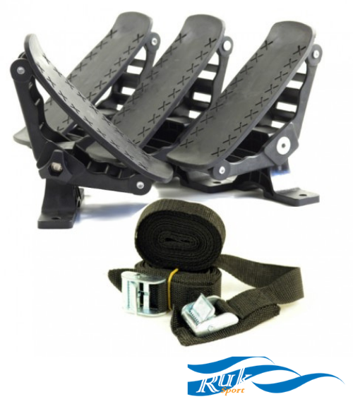 Ruk Combi Roof Rack Cradles - Track Mount - Next Level Kayaking - Hobart Australia Tasmania Paddling Safety Travel Transport