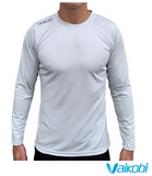 Vaikobi V Ocean LS Relaxed Fit UV Paddling Tee - Light Grey - Next Level Kayaking - Hobart Tasmania Australia Coaching Shop