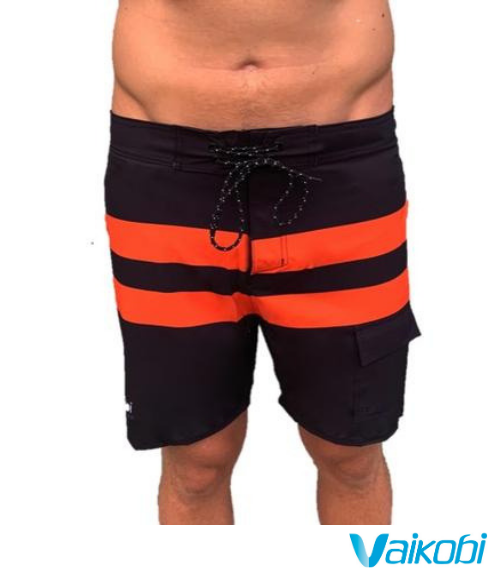 Vaikobi Paddle Board Shorts - Black/Orange - Next Level Kayaking - Hobart Tasmania Australia Paddling Coaching Shop