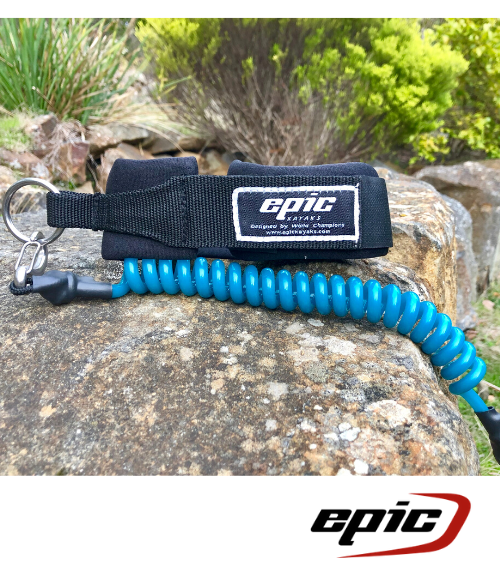 Epic Leg Leash - Teal - Next Level Kayaking - Hobart Tasmania Australia Paddling Coaching Safety Shop